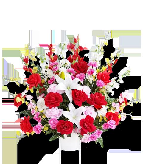 造花スタンド花(アパレル系・飲食店の開店祝いにおすすめ)